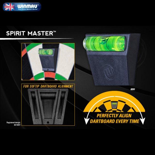 画像1: 特価 winmau ハードボード・ソフトボード 両用 水準器・水平器 ブラック スピリットマスター Spirit Master (1)