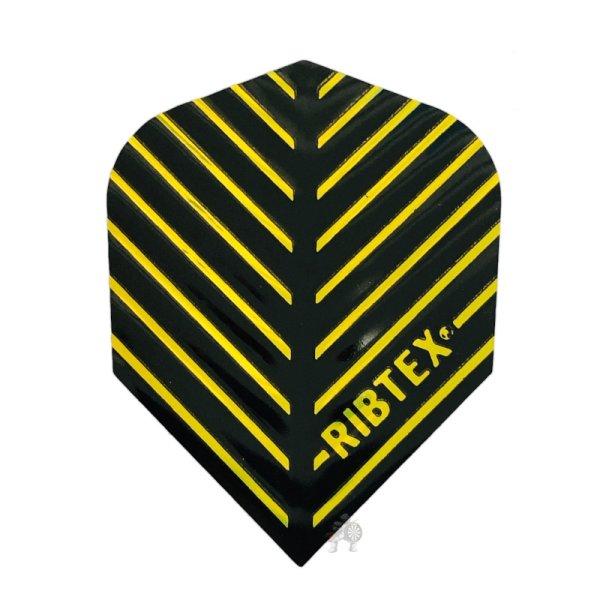 画像1: フライト RIBTEX エンボス&Vグルーブテクノロジー BLACK&GOLD No.6 メタリック (1)