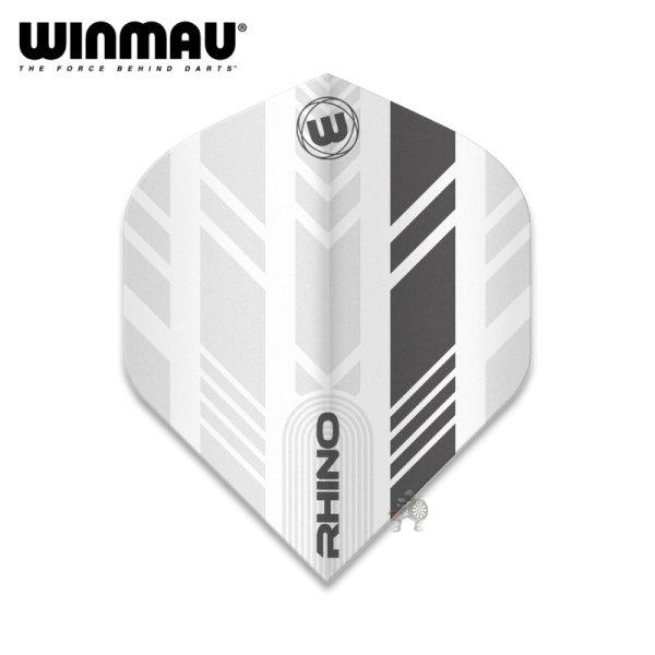 画像1: winmau2021 フライト RHINO  アローフェザー ホワイト&グレー 100ミクロン (1)