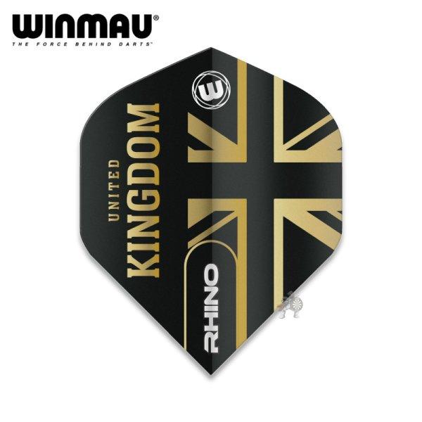 画像1: winmau2021 フライト RHINO United Kingdom ユナイテッド キングダム 100ミクロン (1)